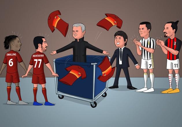 Cười té khói với loạt ảnh chế Mourinho làm HLV AS Roma