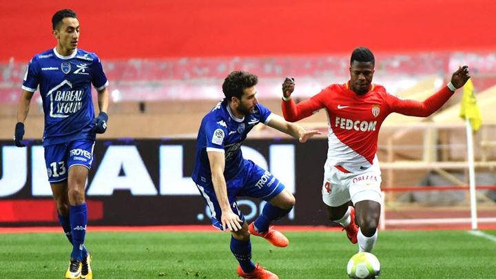 Thành tích đối đầu Troyes vs Monaco