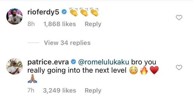 Tiếp tục dội bom, Lukaku được Patrice Evra tung lên mây